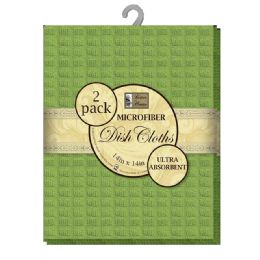 12 Units of Micro Dsh Cloth Asst Solid 2pk - Kitchen Towels