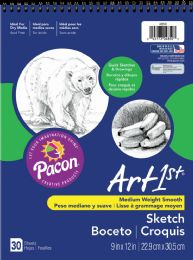 6 Units of Spiral Sketch 9x12 30ct 60 - Sketch, Tracing, Drawing & Doodle Pads