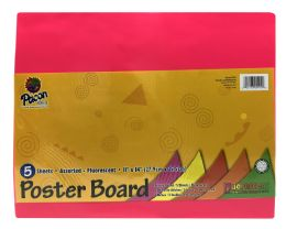 12 Units of Pacon Creative Products Poster Board Assorted Fluorescent - Poster & Foam Boards