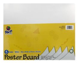 12 Units of Pacon Coated Poster Board, 11 Inch X 14 Inch, 5 Sheets - Poster & Foam Boards