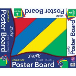 48 Units of Poster Board Asst 4Ct 22X28 - Poster & Foam Boards