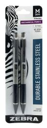 12 Units of Zebra Durable Stainless Steel Mechanical Pencil - Markers and Highlighters