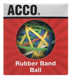 24 Units of Acco® Rubber Band Ball, 275 Bands Per Ball - Rubber bands