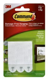 18 Units of 3m Command Brand Medium Picture Hanging Strips - Hooks