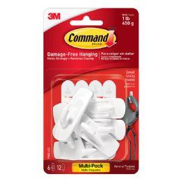 8 Units of 3m Command Small Utility Hooks MultI-Pack, White, 6-Hooks - Hooks