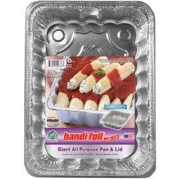 24 Units of Handi Foil Cnc Giant All Purpose Pan W/lid - Pots & Pans
