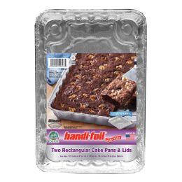 28 Units of Handi Foil Cnc 8 Inch Square Cake Pans W/lids 3ct - Pots & Pans