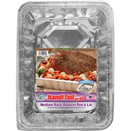 24 Units of Handi Foil Cnc Med Roaster Pan W/lid - Pots & Pans