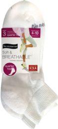 6 Units of Soft Breath Qtr Top White - Socks & Hosiery