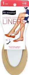 12 Units of Hidden Cotton Liner Nude - Socks & Hosiery