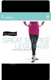 4 Units of Cotton Shape Leggns Blk Med - Socks & Hosiery