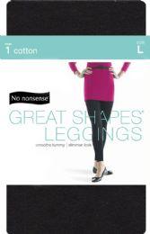 4 Units of Cotton Shape Leggns Blk lg - Socks & Hosiery