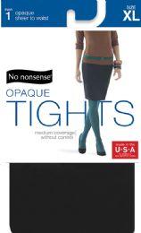 6 Units of Nn Slky Opq Stw Tght Xl Blk - Socks & Hosiery