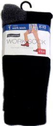 6 Units of Nn Hvy Sock Mens Wrk B221 Blk - Socks & Hosiery