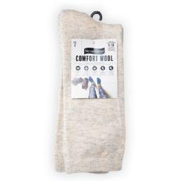 6 Units of Cushioned Wool Crew Oatmeal - Socks & Hosiery