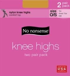 6 Units of Knee Hi Sheertoe Tan 2pk - Socks & Hosiery