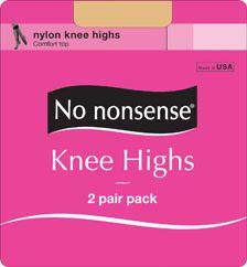 6 Units of Knee Hi St Nude 2pk - Socks & Hosiery