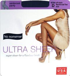 12 Units of Ultra Sheer Off Black D - Socks & Hosiery