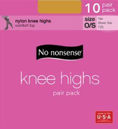 6 Units of Knee Hi Sandfoot Tan 10pk - Socks & Hosiery