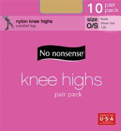 6 Units of Knee Hi Sandfoot Nude 10pk - Socks & Hosiery
