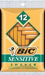 12 Units of Bic Shaver Sensitive 12 pk - Shaving Razors