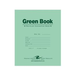 100 Units of Roaring Spring Green Exam Book - Note Books & Writing Pads