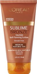 6 Units of L'Oreal Paris Sublime Bronze Tinted Self-Tanning Lotion, , 5 Fl. Oz. - Skin Care