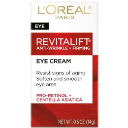 6 Units of L'Oreal Paris Revitalift Anti-Wrinkle + Firming Eye Cream, Fragrance Free, , 0.5 Oz. - Skin Care