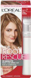 6 Units of L'oreal Paris Magic Root Rescue 10 Minute Root Hair Coloring Kit, 7 Dark Blonde, 1 Kit - Hair Products