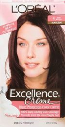 6 Units of L'oreal Paris Excellence Crme Permanent Triple Protection Hair Color, 4 Dark Brown, 1 Kit - Hair Products