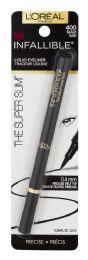 8 Units of L'Oreal Paris Infallible Super Slim Long-Lasting Liquid Eyeliner, Black, 0.034 Fl. Oz. - Lip & Eye Pencil