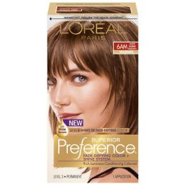 6 Units of L'oreal Paris Superior Preference FadE-Defying Shine Permanent Hair Color, 6am Light Amber Brown - Hair Products