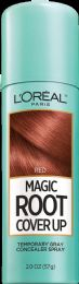 4 Units of L'Oreal Paris Magic Root Cover Up Gray Concealer Spray, Red, 2 Oz. - Hair Products