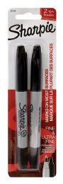 12 Units of Sharpie Fine & Ultra Fine Permanent Marker Black - Markers and Highlighters