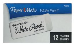 24 Units of Paper Mate White Pearl Erasers 12 - Erasers