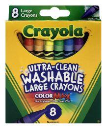12 Units of Crayola UltrA-Clean Washable Large Crayons Color Max - Crayon