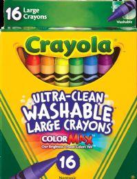 6 Units of Crayon 16ct Jumbo Washable - Crayon