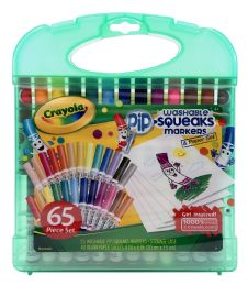 6 Units of Crayola Washable Pip-Squeaks Markers & Paper Set - Markers
