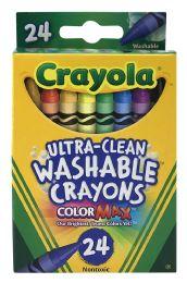 12 Units of Crayola UltrA-Clean Washable Crayons 24 Count - Crayon