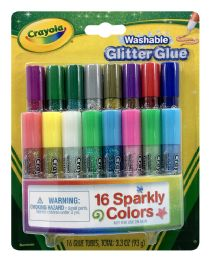 6 Units of Crayola Washable Glitterglue - Arts & Crafts