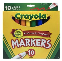 6 Units of Crayola Markers 10 Classic Colors - Markers