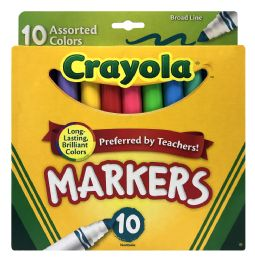 12 Units of Crayola Markers Assorted Colors 10 - Markers