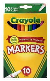 6 Units of Crayola 10 Classic Colors Markers - Markers