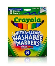 12 Units of Crayola UltrA-Clean Color Max Washable Markers 8 Count - Markers