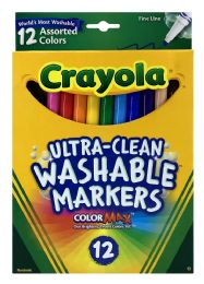 6 Units of Crayola Ultra-Clean Washable Markers 12 - Markers