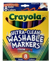 12 Units of Crayola UltrA-Clean Washable Markers 8 Bold Color - Markers