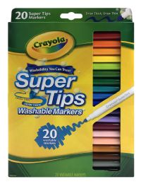 12 Units of Crayola Super Tips Washable Markers 20 Ct - Markers