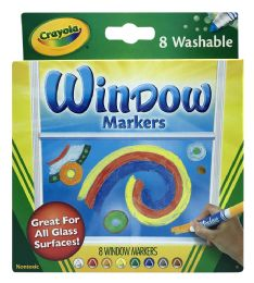 12 Units of Crayola 8 Window Markers - Markers