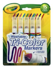 6 Units of Crayola Washable TrI-Color Markers - Markers