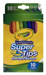 12 Units of Crayola Super Tips Washable Markers - Markers